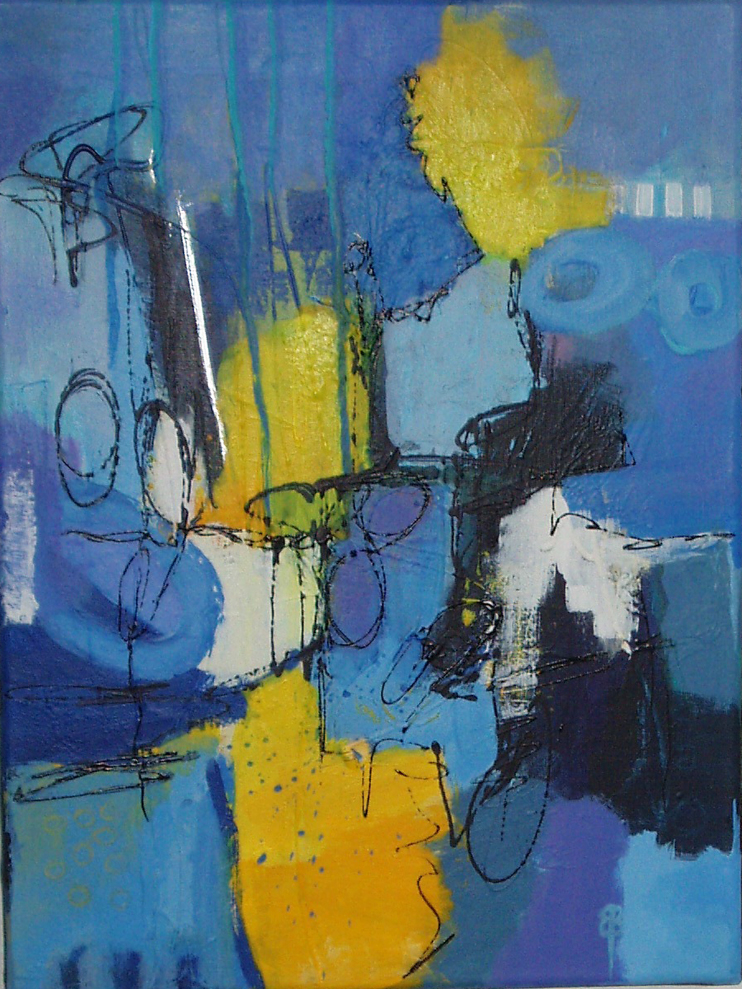 Springtime in blue 1 40x30